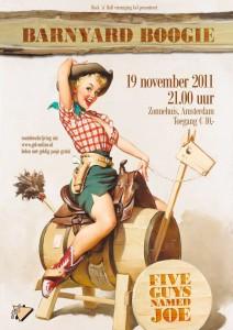 Barnyard Boogie op 19 november in het Zonnehuis